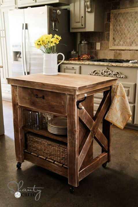 30 Rustic DIY Kitchen Island Ideas on Rustic:fkvt0Ptafus= Farmhouse Kitchen Ideas  id=99019