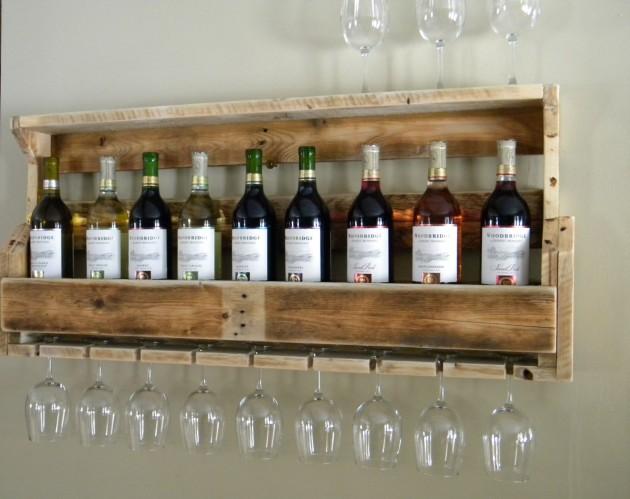 Reclaimed Pallet Wood Wine Rack - Unique Handmade Wine Rack Designs