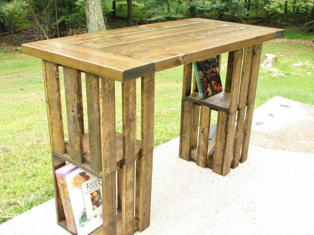 Rustic Desk 25 Creative Diy Project Ideas From Old Crates