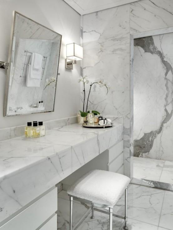 27 Exquisite Marble Bathroom Design Ideas on Small:e_D8Ihxdoce= Bathroom Ideas  id=38065