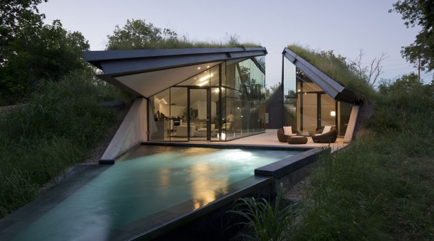 Underground Beauty- Edgeland House in Austin, Texas