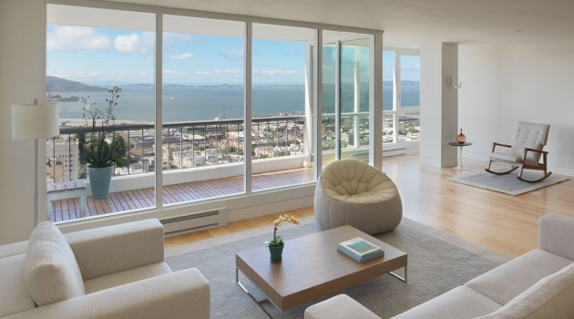 Minimalist Condominium on Russian Hill Offering Astonishing San Francisco Bay Views