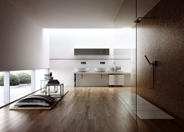 18 Exquisite Contemporary Wooden Bathroom Design Ideas
