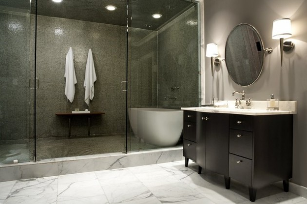 21 Dream Master Bathrooms That Will Leave You Breathless  21 Dream Master Bathrooms  466 630x419