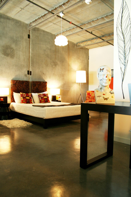 Glamorous Interior Designs With Concrete Walls