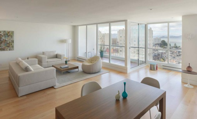 Minimalist Condominium on Russian Hill Offering Astonishing San Francisco Bay Views