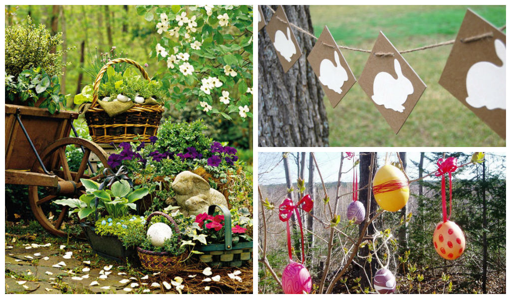 30 lovely easter outdoor decorations for Outdoor easter decorations for the home