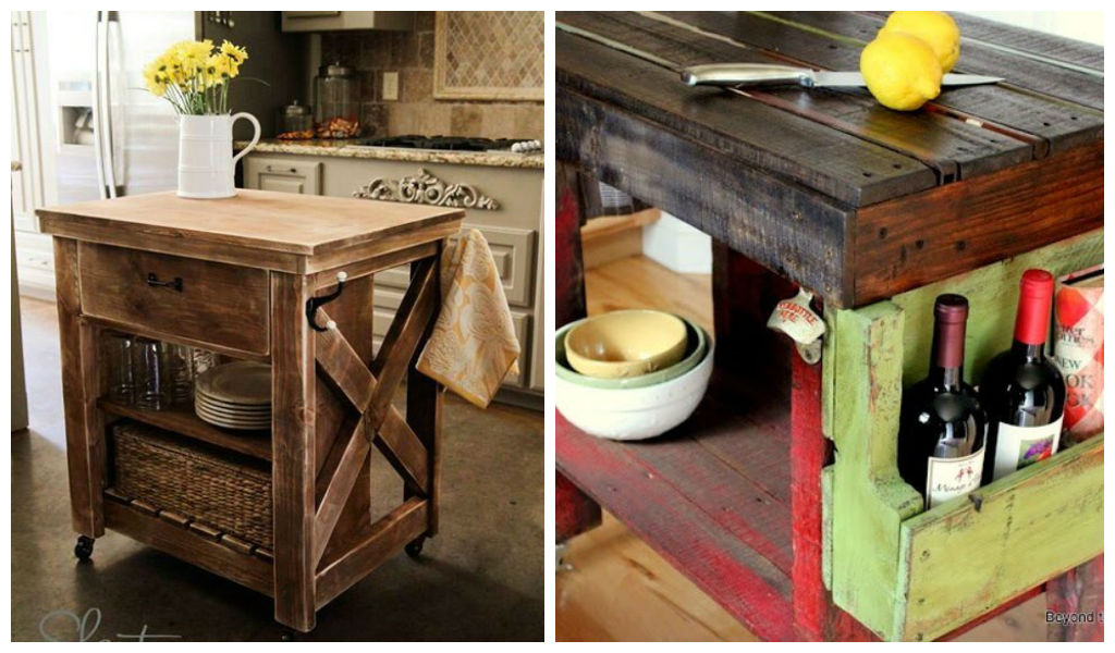 30 Rustic DIY Kitchen Island Ideas  Architecture Art Designs