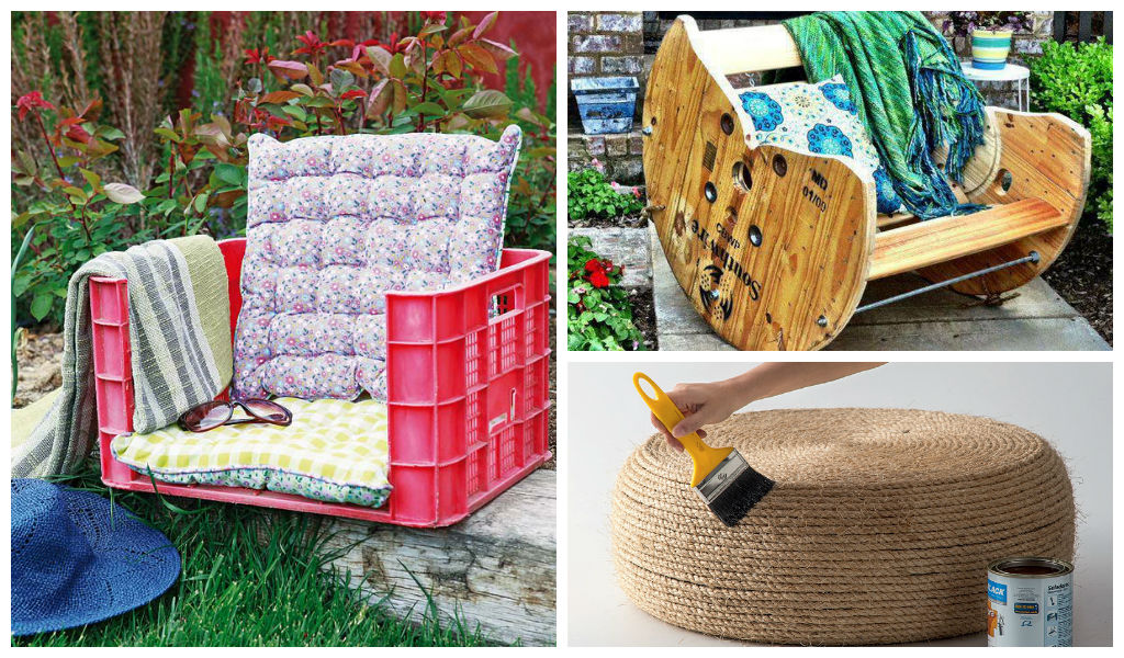 22 Easy And Fun Diy Outdoor Furniture Ideas, How To Make Simple Outdoor Furniture