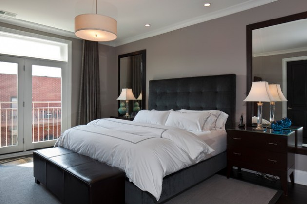17 Dramatic Bedroom Designs with Dark Walls