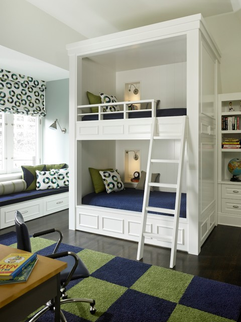 Built In Bunk Beds Part - 17: 27 Fantastic Built In Bunk Bed Ideas For Kids Room From A Fairy Tales