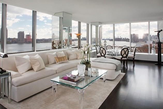 Glamourous art deco apartment in manhattan new york - Deco moderne flat ...