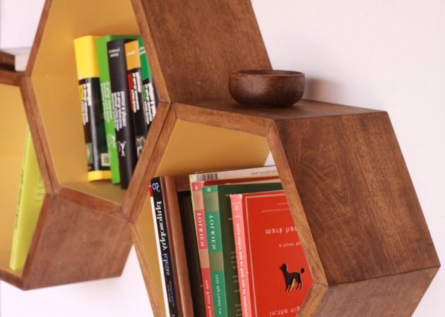 16 cool handmade book shelf storage ideas 16 Storage Ideas
