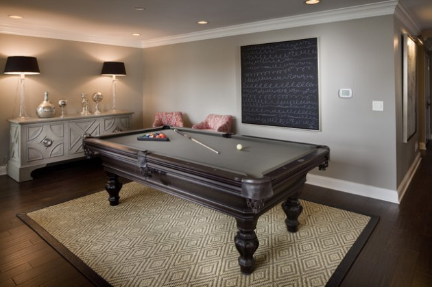 Classy And Charming Game Room Designs With Pool Table - How much room for a pool table