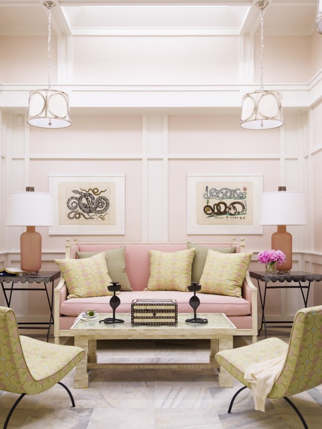 Living Room Interior Design Ideas Uk: 27 Fabulous Pastel Pink Interior Designs