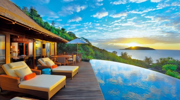 The Constance Ephélia Resort in Port Launay, Seychelles
