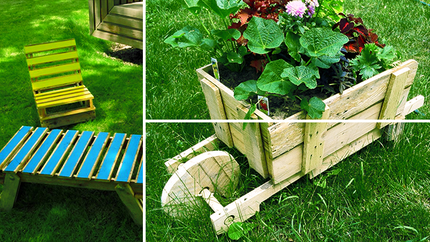 20 easy reclaimed wood diy garden projects architecture for Diy garden crafts