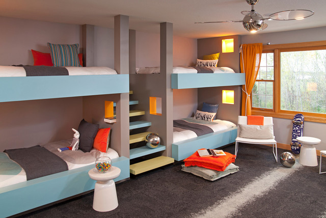 27 fantastic built in bunk bed ideas for kids room from a fairy tales - Lit scandinave vintage ...