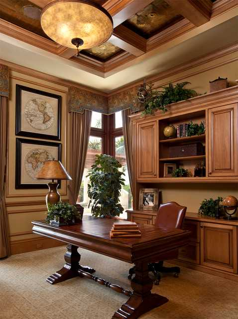 Masculine Office Shelves