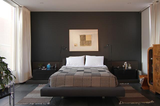 17 dramatic bedroom designs with dark walls - Houzz dormitorios ...