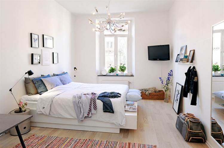 18 Bright And Airy Scandinavian Bedroom Design Ideas White Wall