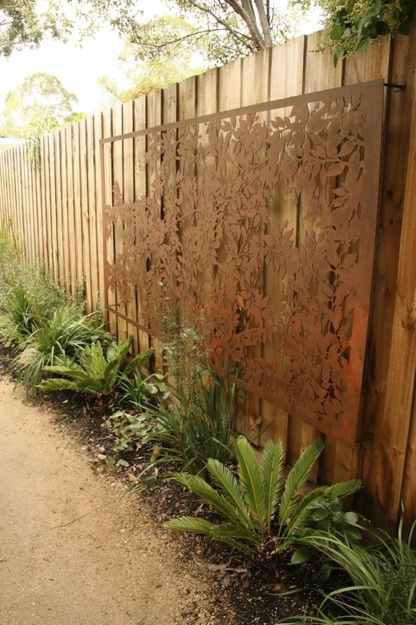 25 Incredible DIY Garden Fence Wall Art Ideas on Outdoor Garden Wall Art Ideas id=73985