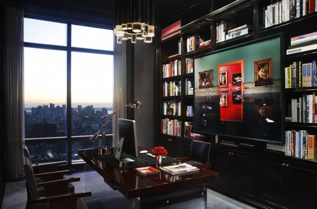 masculine office. 19 dramatic masculine home office design ideas w