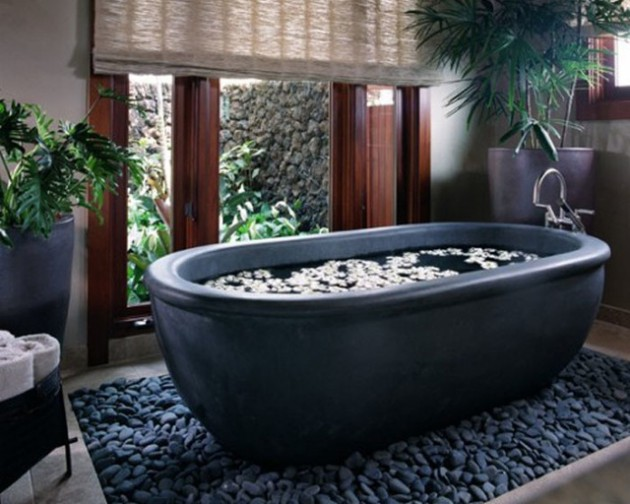 27 Stunning Stone Bathtub Designs