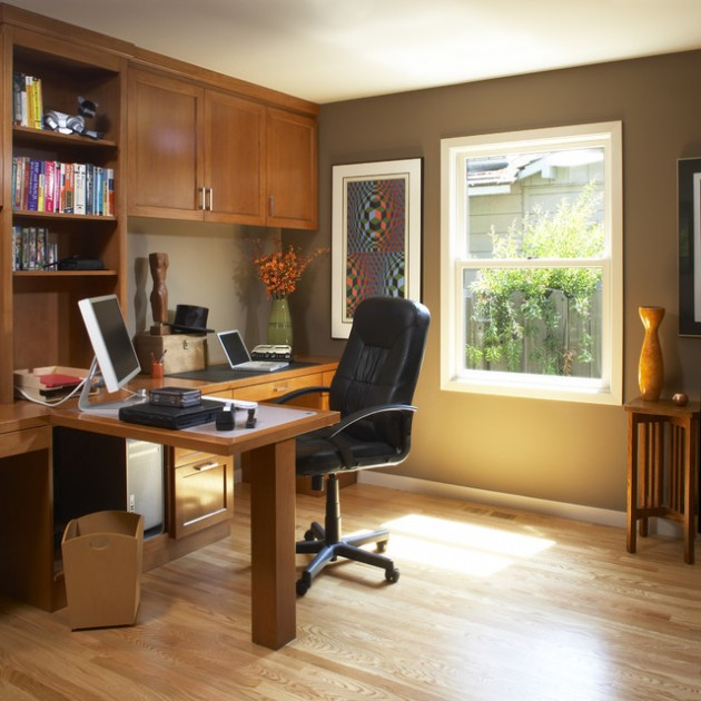 Home Office Decorating Tips: 19 Dramatic Masculine Home Office Design Ideas