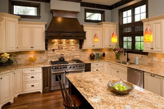 18 Lovely Kitchen Design Ideas With Stone Walls