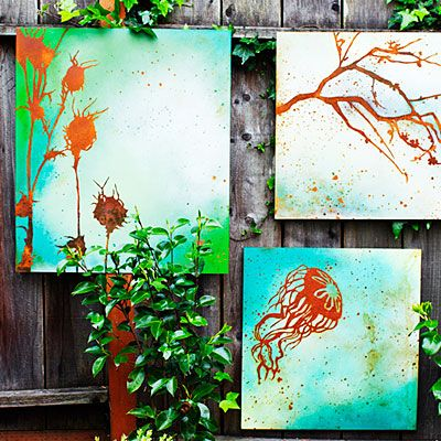 25 Incredible DIY Garden Fence Wall Art Ideas on Outdoor Garden Wall Art Ideas id=77527