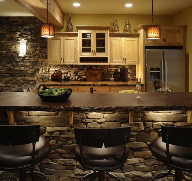 Wall Kitchen Design: 18 Lovely Kitchen Design Ideas With Stone Walls