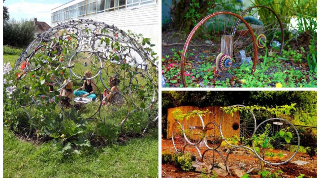 25 Incredible DIY Repurposed Bike Wheels