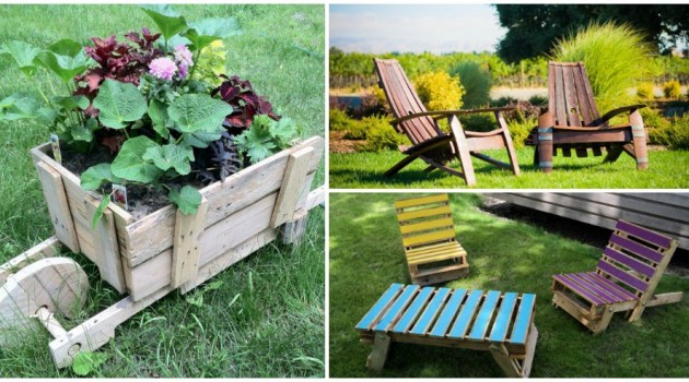20 Easy Reclaimed Wood DIY Garden Projects