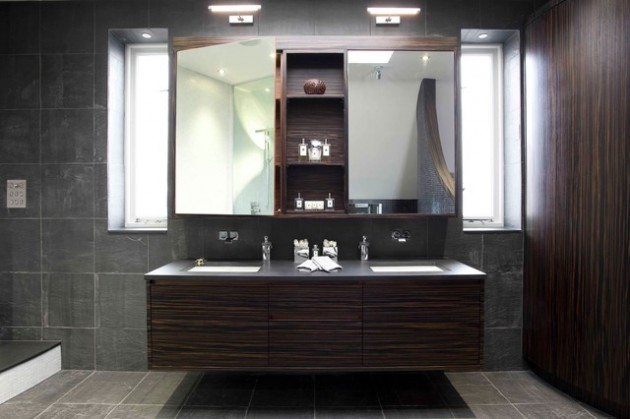 18 Dramatic Masculine Bathroom Designs To Get You Inspired