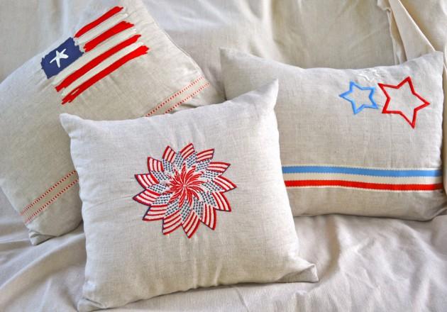 15 Amazing Handmade Patriotic Pillows