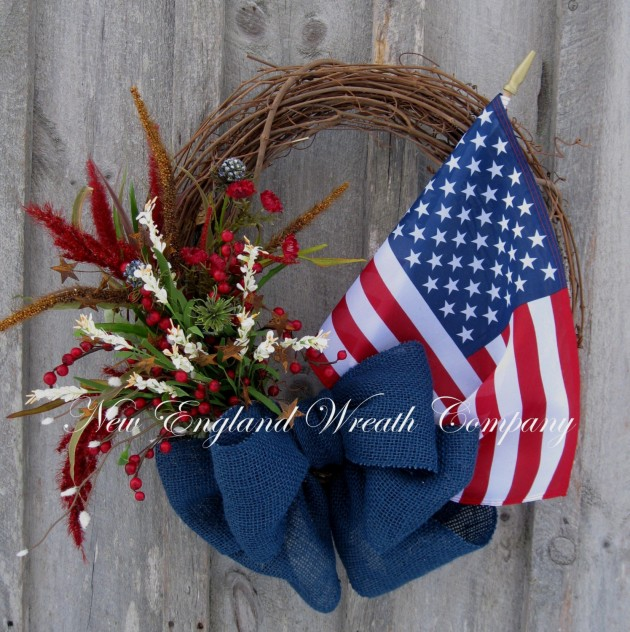 20 Awesome Handmade 4th Of July Wreath Ideas