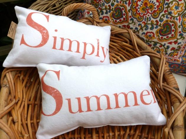 20 Refreshing Decorative Summer Pillow Ideas