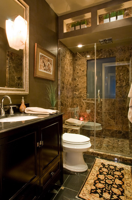 18 dramatic masculine bathroom designs to get you inspired for Small but beautiful bathrooms