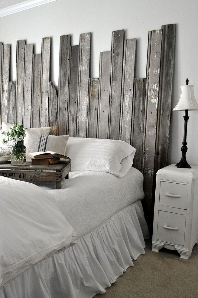 27 incredible diy wooden headboard ideas. Black Bedroom Furniture Sets. Home Design Ideas