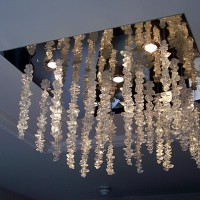Glass Chandeliers and Glass Wall Lamps by Murano