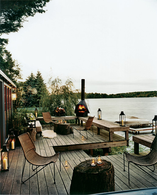 Rustic Lake House Decorating Ideas Rustic Lake House: 24 Amazingly Elegant Wooden Deck Designs