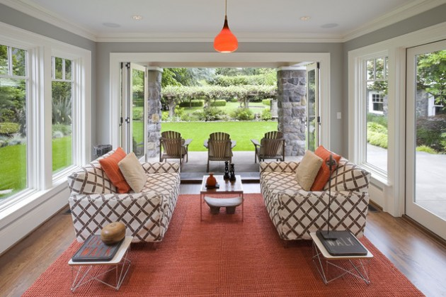 13 marvelous contemporary sunroom designs for your backyard for Sunroom decor