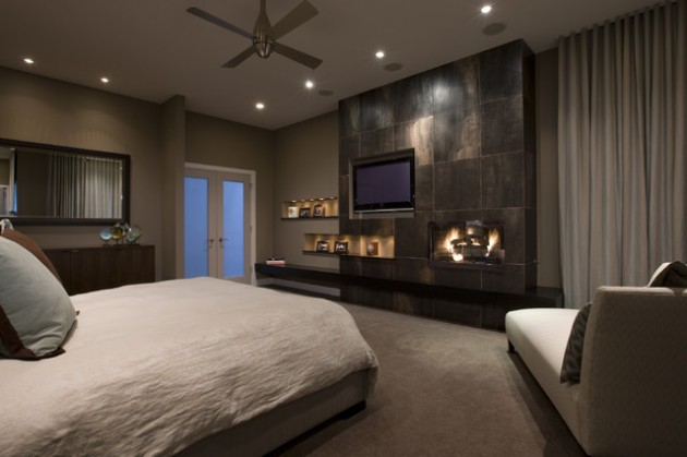 15 unbelievable contemporary bedroom designs Master bedroom with fireplace images
