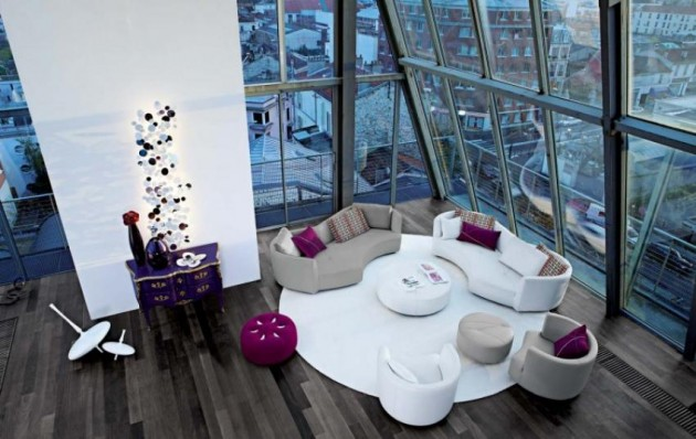 Exceptional Design That Wows Fantastic Living Room Ideas with Glass Wall