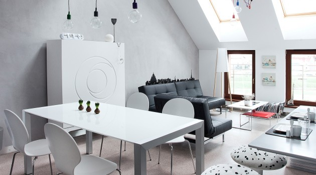 CONDO /_\ ATTIC SPACE in Poznan by KASIA ORWAT Home Design