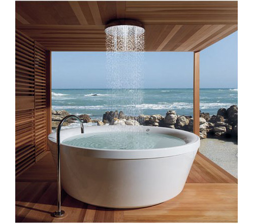 The coolest 14 open bathroom designs you must see for Open air bathroom designs