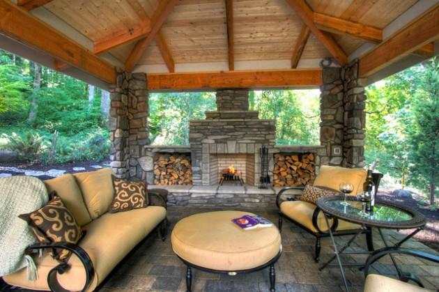 Warm And Cozy Rustic Outdoor Ideas