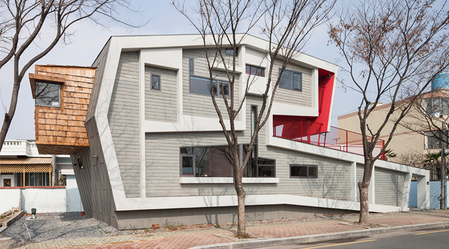 Roll House by Moon Hoon in South Korea