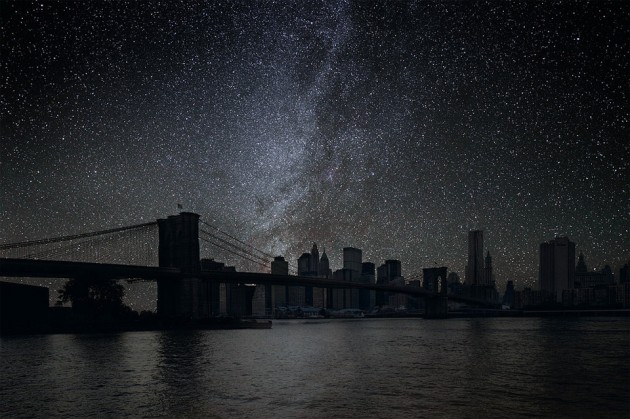 How Would Metropolises Look Like With Their Lights Off?